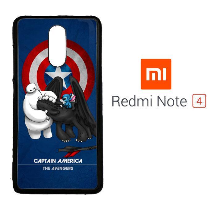 Stitch Baymax Toothless CAPTAIN AMERICA Y2888 Xiaomi Redmi Note 4 Cust