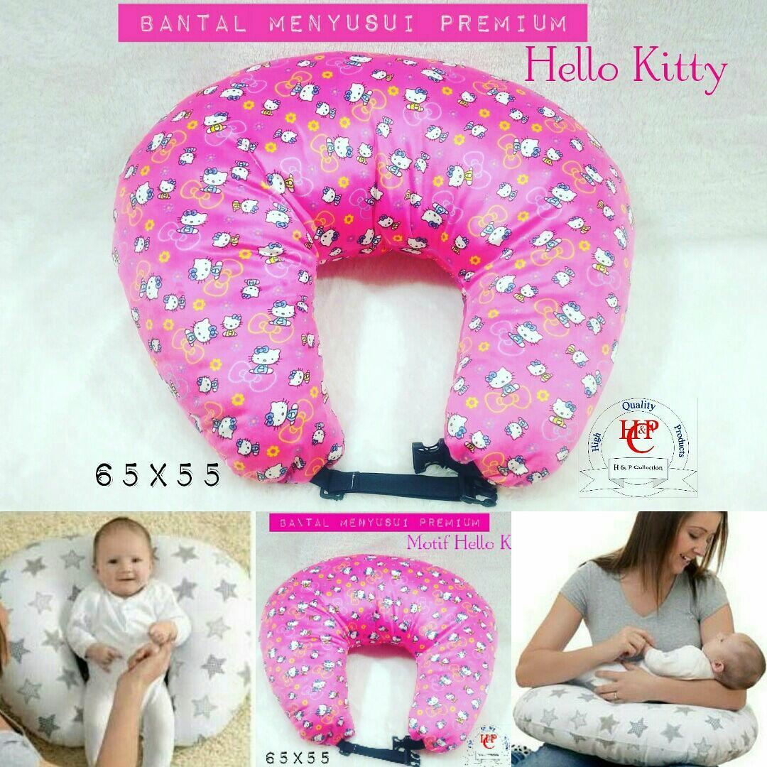 Bantal menyusui motif hello kitty pink bagus lembut