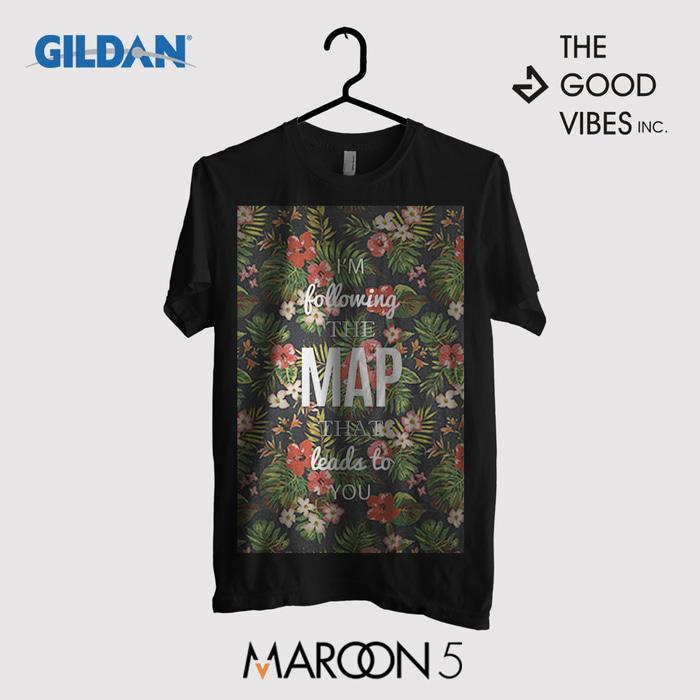 Kaos Band Maroon 5 Original Gildan - MAPS Lyrics