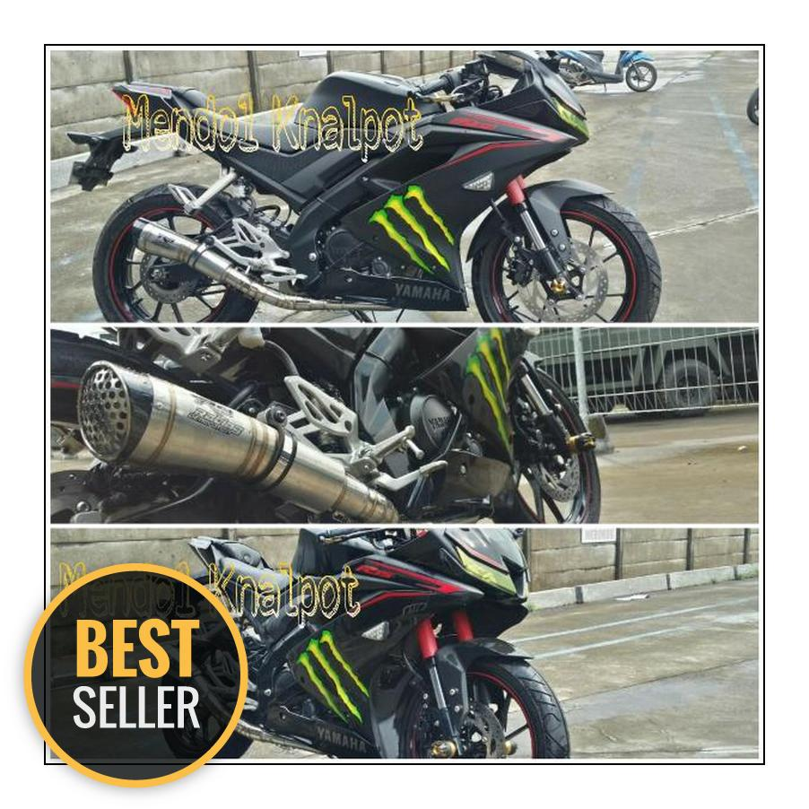 Knalpot Racing R9 H2 Fullsystem Yamaha R15 V3