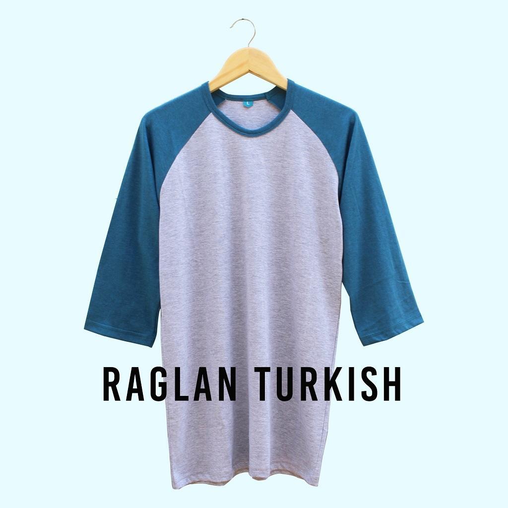 Kaos Raglan Lengan 3/4 Turkish