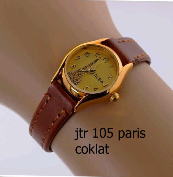 jam tangan alba wanita / jtr 105 paris coklat / Jam tangan wanita / jam tangan model terbaru / jam tangan murah / jam tangan cantik / jam tangan modis