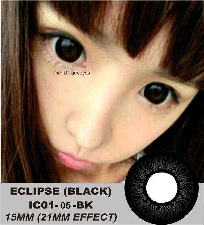 Promo  Softlens Eclipse Black IC01-05-BK (Hitam Pekat)
