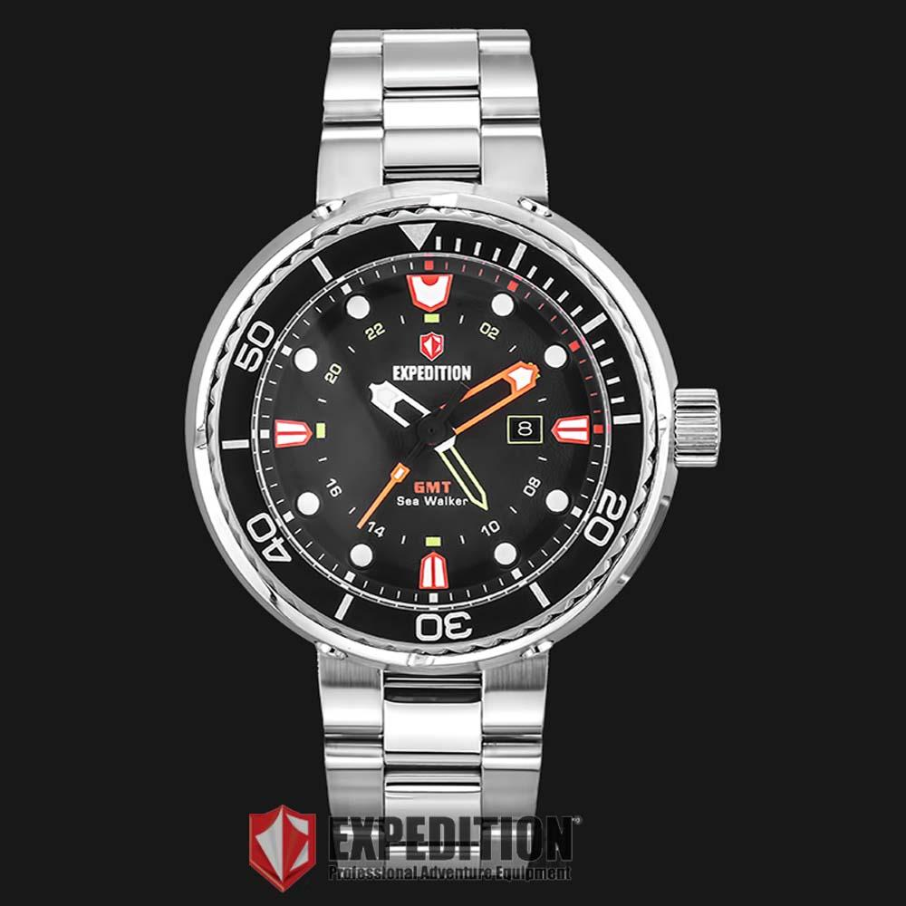 Harga Expedition E 6381 Silver Ring Black Jam Tangan Pria Rp 6381silver 6727 Md Btbsl Man Dial Stainless Steel