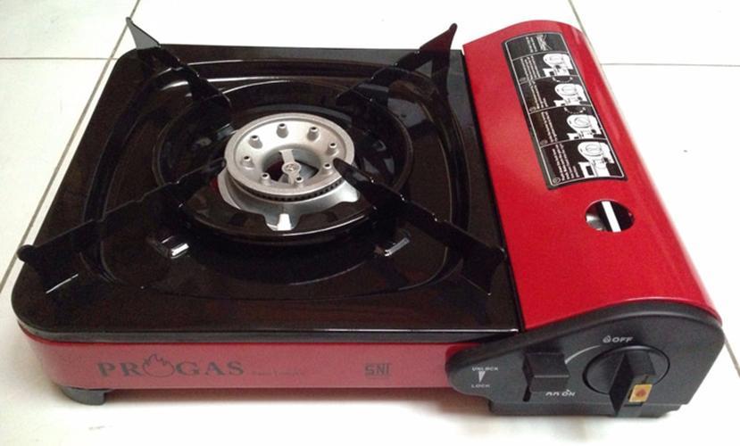 Kompor Gas Portable untuk camping dan di rumah 2in1 Bisa menggunakan Gas Kaleng maupun  LPG  3kg