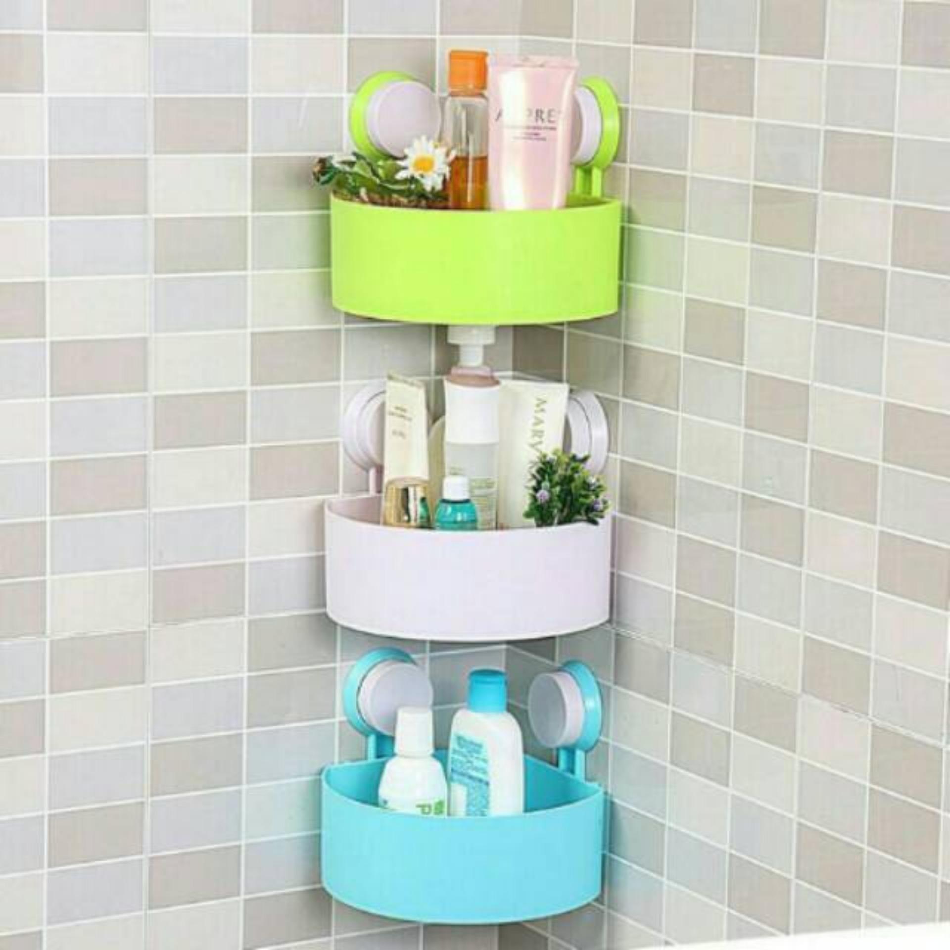 Rak Sudut kamar mandi Serbaguna ( tak perlu paku, dan bor keramik) - 1 Rak