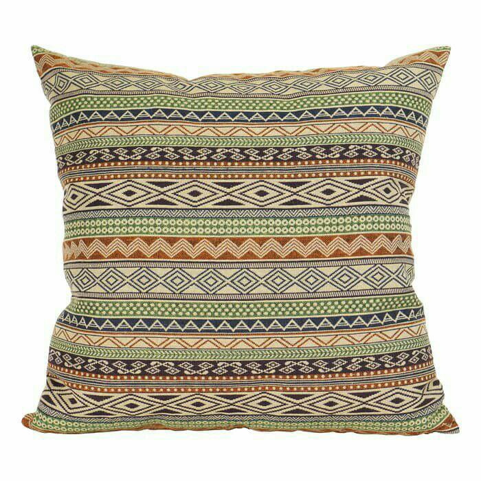 Best Seller - Corated Home Cushion Cover Sarung Bantal Sofa 45 × 45cm Boho Green -Sarung Bantal Terbaru
