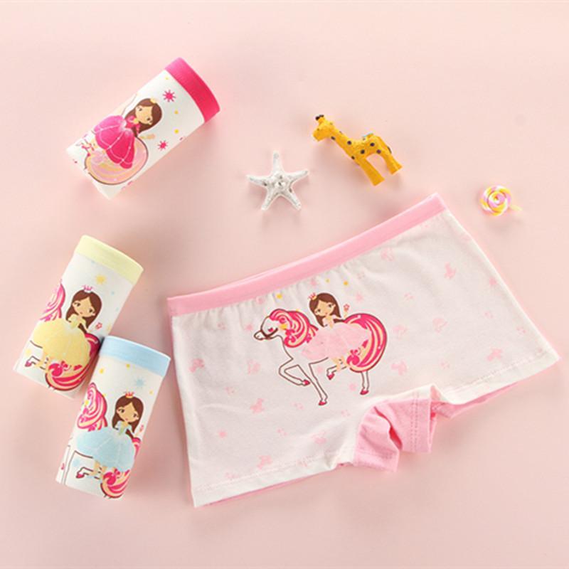 001b8b70f6c3 WURUOTIM 4pcs/lot 2-12 Years Kids Panties Cotton Girls Underwear riding  horse princess