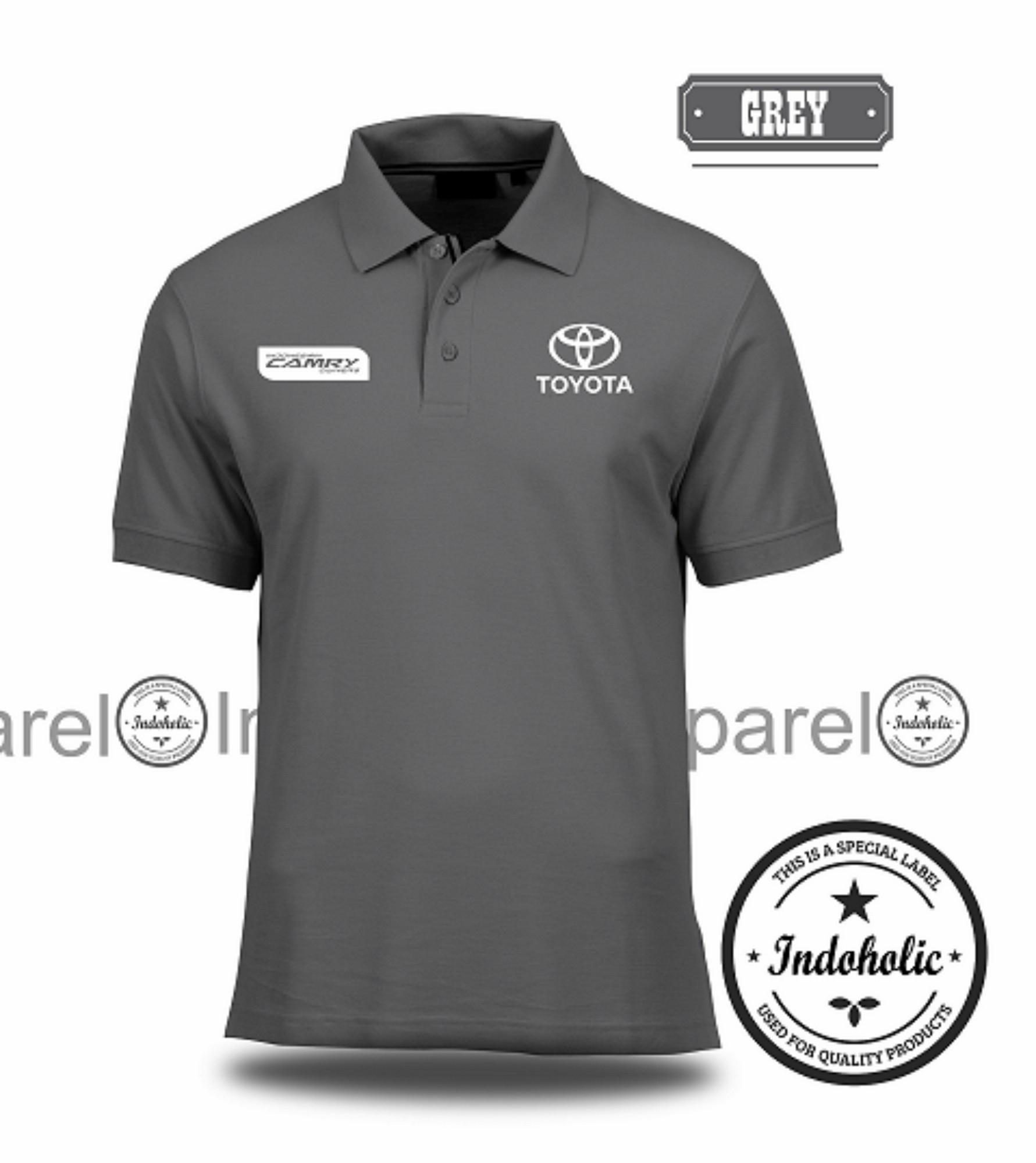Polo Shirt Kaos Distro Mobil Sedan Sport Choper Toyota Camry Branded T-Shirt Fashion Pria Wanita Cowok Cewek Baju T-Shirt Jakarta Bandung Terbaru Jaman Now Kekinian Atasan Pakaian Polos Pendek Kerah Berkera