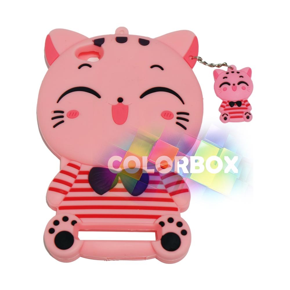 MR Soft Case 3D Xiaomi Redmi 5A Pink Cat Red Horizontal Line / Silikon 3D Xiaomi Redmi 5A / Softcas