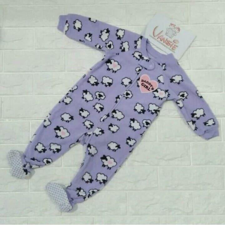 Baju sleepsuit anak branded bahan baby terry motif domba