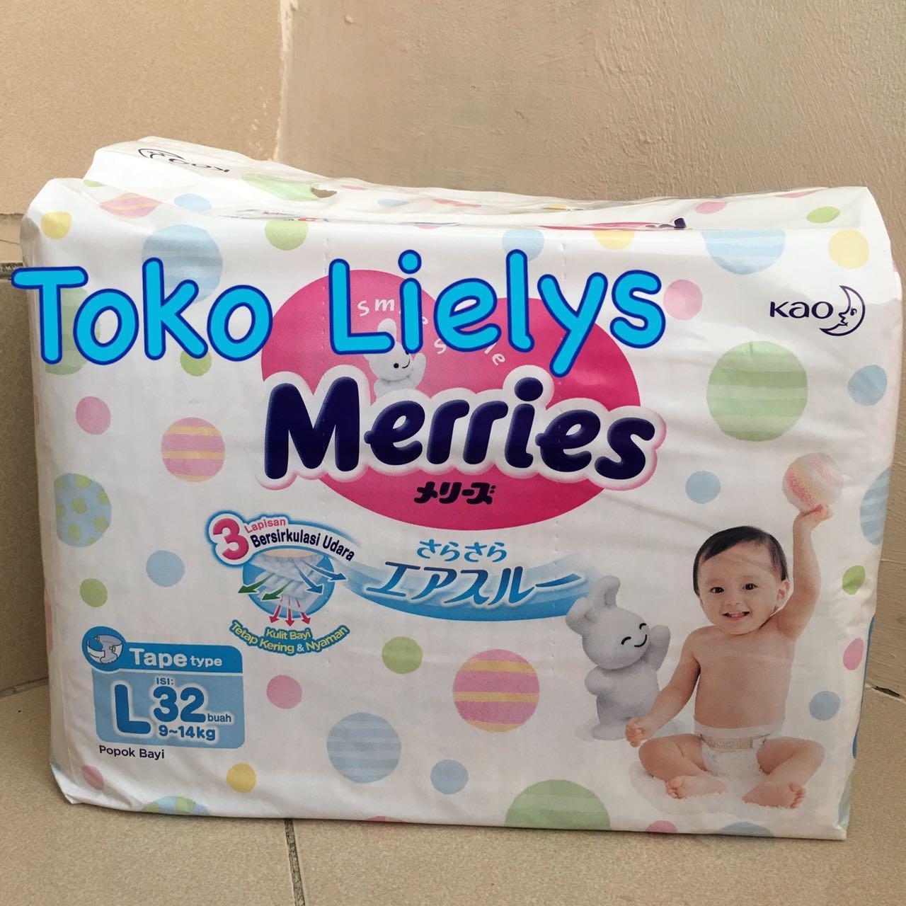 Kelebihan Merries Premium Tape New Born Isi 24 Terkini Daftar Sweety Popok Bayi Comfort Gold S 26 L32 Perekat L 32