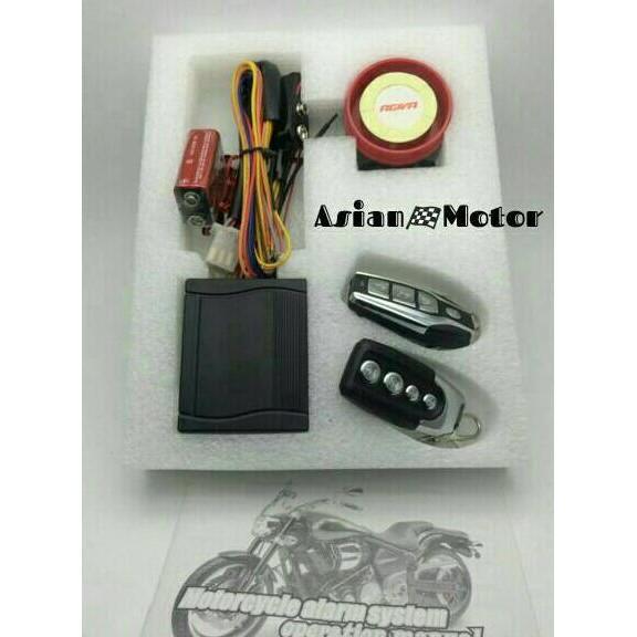 Alarm System Motor Agiva Fitur Lengkap + Cara Pasang Premium - Motor