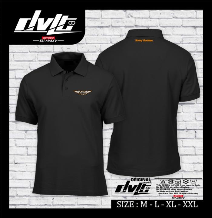 Poloshirt / Kaos Polo Harley Davidson Logo Vol.2 Murah