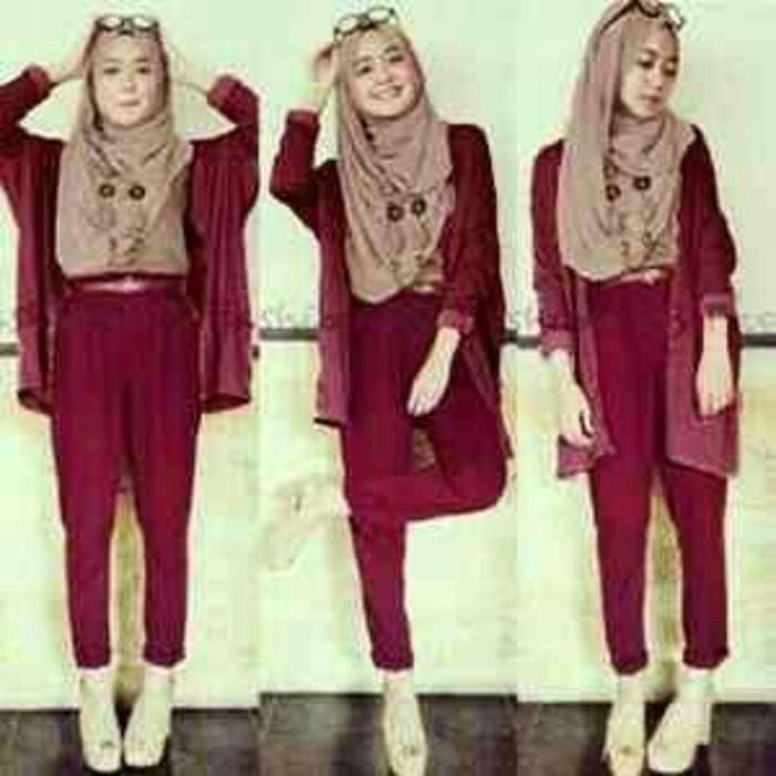 Set 4in1 putri hijab maroon
