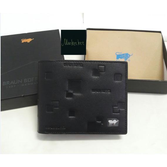 LARIS Dompet KULIT Pendek Lipat 3D Braun Buffel BB 01 – 898 Pria Impor Import ASLI