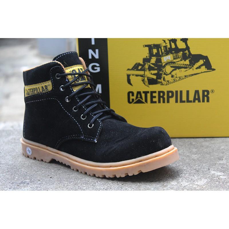 New Sepatu Caterpillar Sol Gum / Karet Hitam