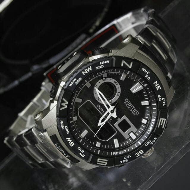 Jam Tangan Pria / Cowok Digitec R1577 Silver