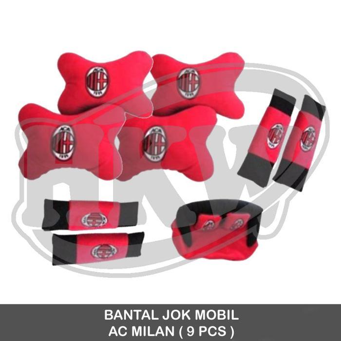 Bantal AC Milan 9 pcs Mobil Corolla Altis