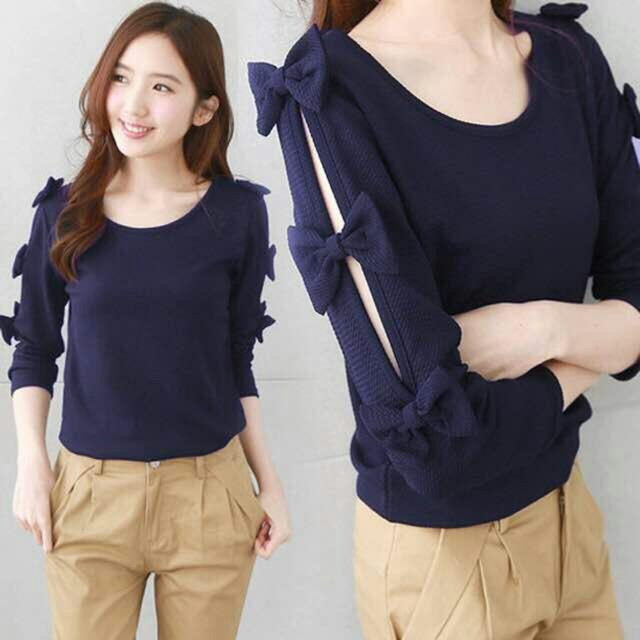 ZOEFASHION BLOUSE CHACHA PITA - NAVY NO.280
