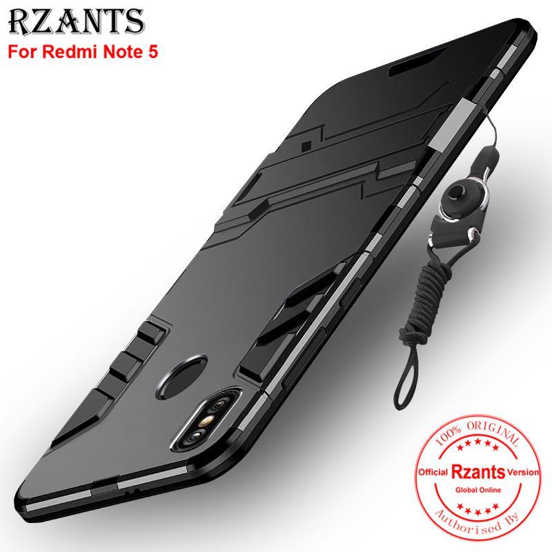 Rzants untuk For Xiaomi Redmi Note 5 [Armor Series] With Lanyard Shockproof Kickstand Hard