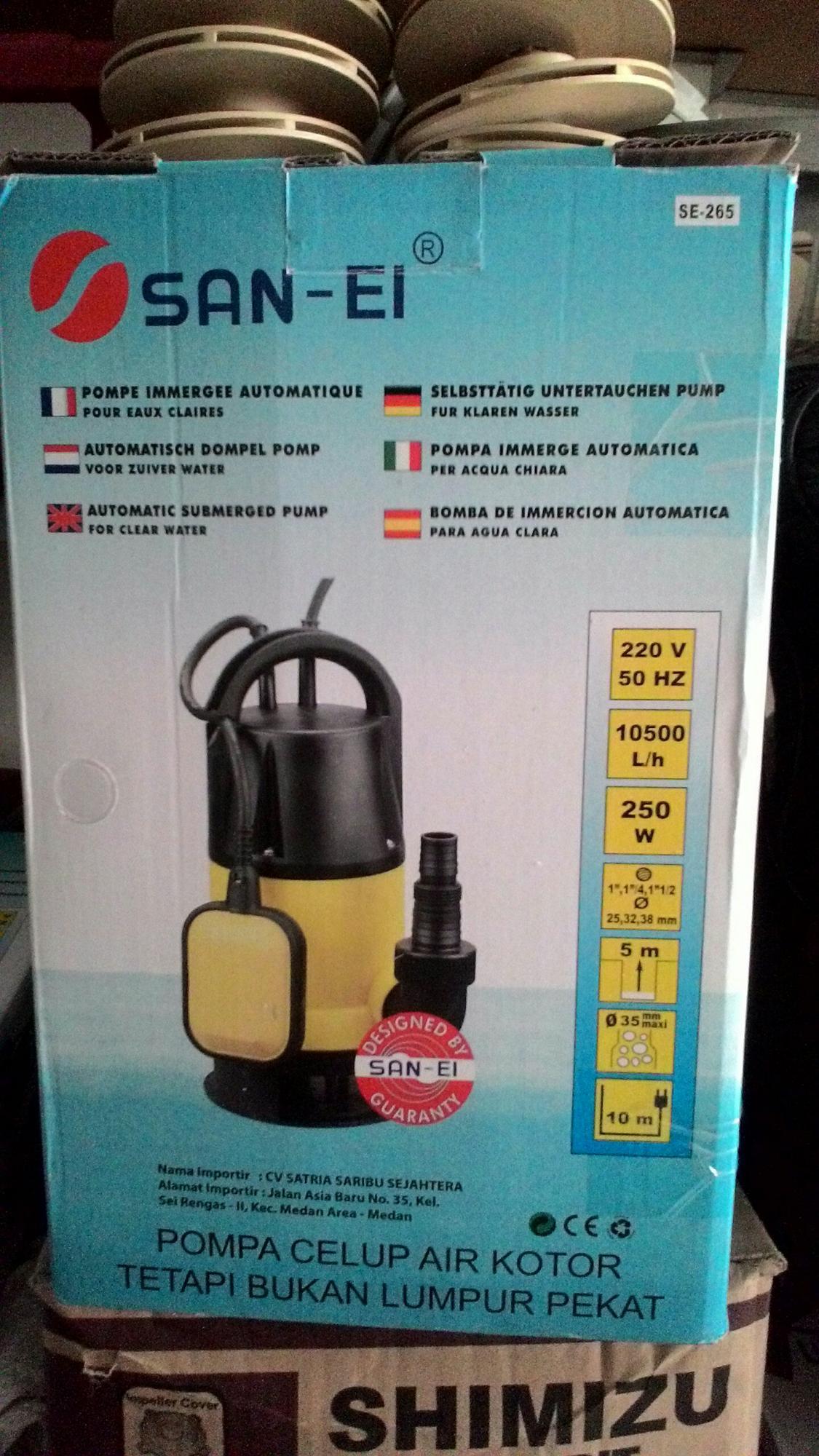 Mesin pompa air celup air kotor 250watt SANEI