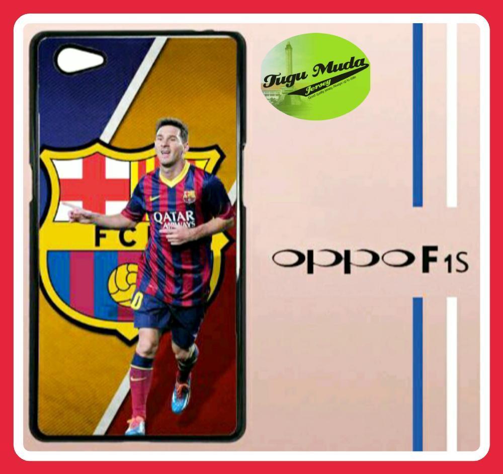 FC Barcelona Barca Messi Q0060 Casing Custom Hardcase Hp Oppo F1s Selfie Expert   A59 Case Cover
