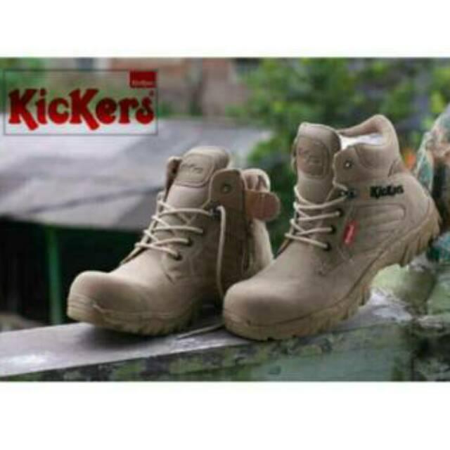 Sepatu Boots Safety Shoes Pria Aman Kerja Brand Original Outdor Army Bagus Murah Baru Size 39-44