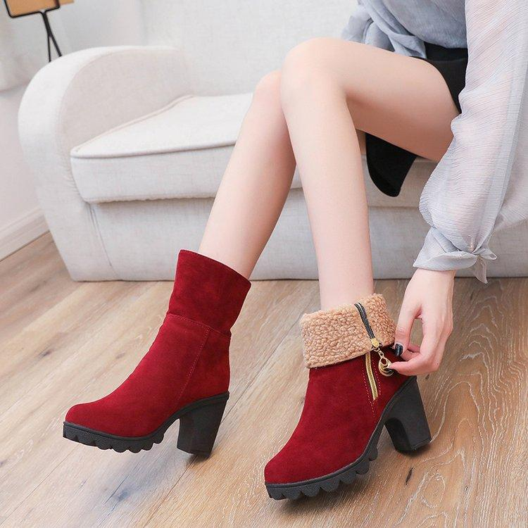 Stationery Stickers Plus Size 44 Brand Designers Long Boots Women Fashion Soft Pu Leather Womens Knee High Boots 2019 Winter Red White Shoes Women To Have A Unique National Style
