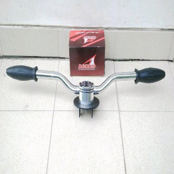 Paketan Stang Streetcub- Chopy dan Handgrip Honda C50- C70- Astrea Star- 700- 800 Supercub