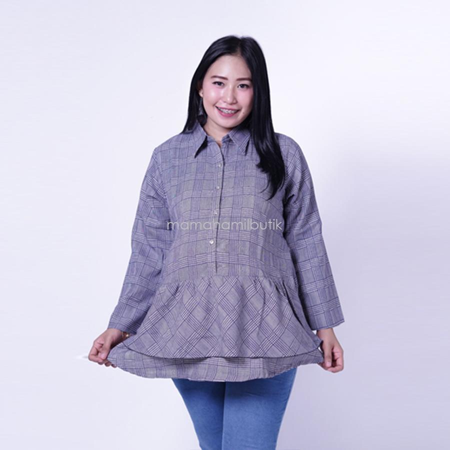 Ning Ayu Baju Hamil Atasan Lengan Panjang Menyusui  Modis Kotak Layer - BLJ 432 / Baju Menyusui Lengan Panjang / Baju Atasan Menyusui / Baju Menyusui Muslimah / Baju Muslim Wanita untuk Ibu Menyusui/ Baju Hamil Untuk Kerja / Baju Hamil Untuk Kerja Modis