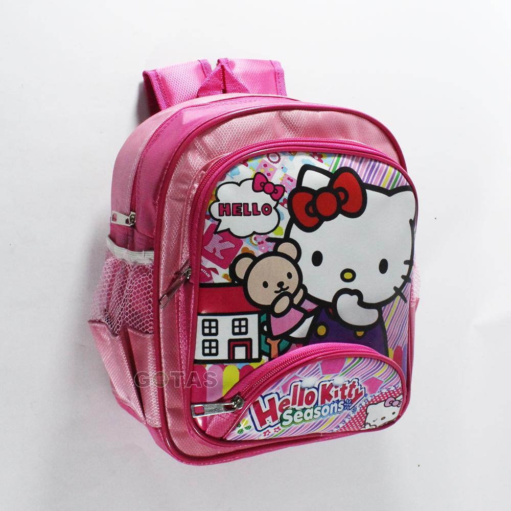 Tas Anak Sekolah Playgroup PG Karakter Hello Kitty Pink