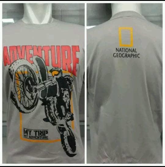 Kaos Adventure Motocross Katun Combed Size L