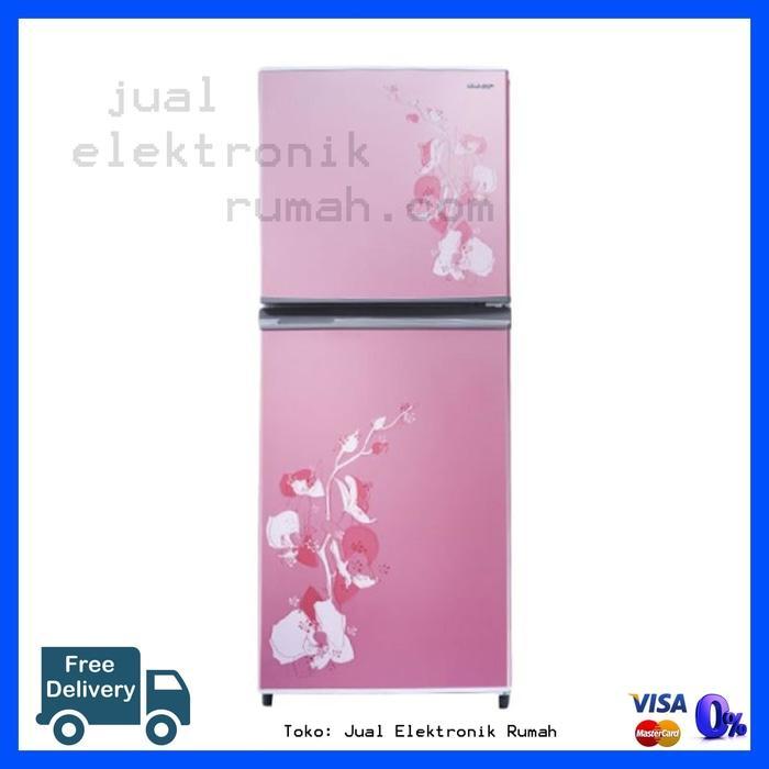 Kulkas Lemari Es 2 Pintu Bunga Sharp Cuci Gudang Free Ongkir Jakarta