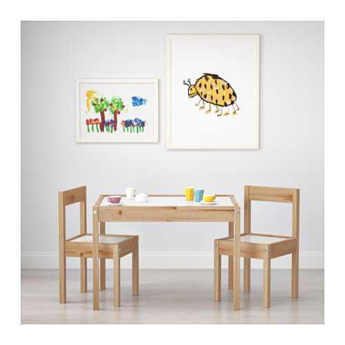 Best Seller!!! IKEA LATT Meja anak dengan 2 kursi bahan kayu pinus Unik Murah Minimalis