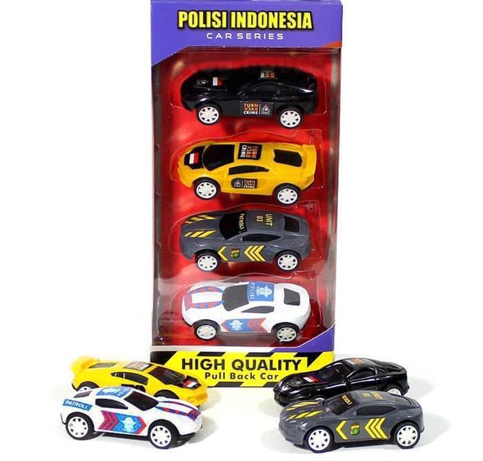 TERLARIS Mainan Mobil Polisi Indonesia Sabhara Patroli PJR Turn Back Crime Set PROMO