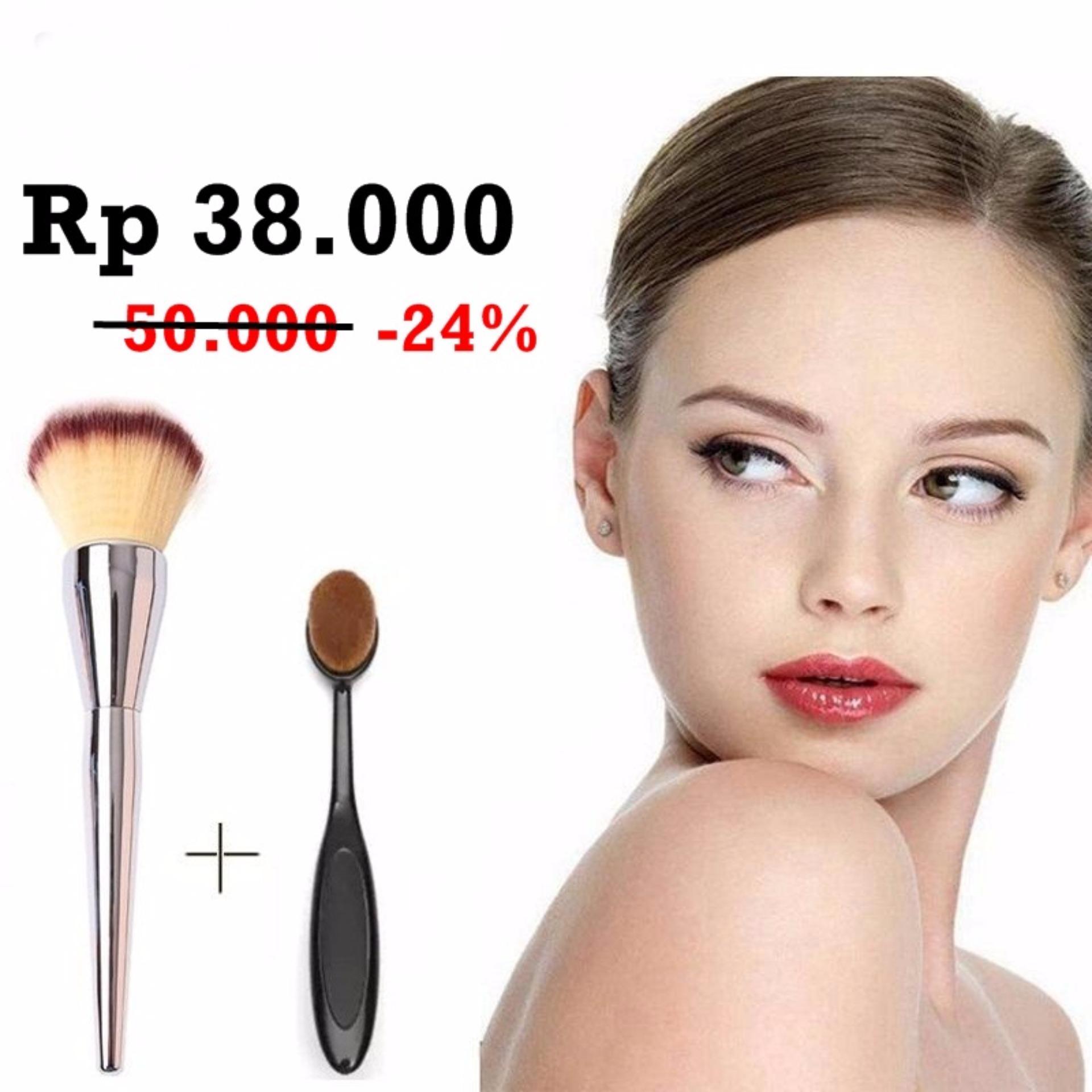 Jbs Kuas Oval Brush Foundation Naturgo Masker New York Set Makeup Paket K 070 Egg Spon Telur Bundle Powder Besi Dan K055 K002
