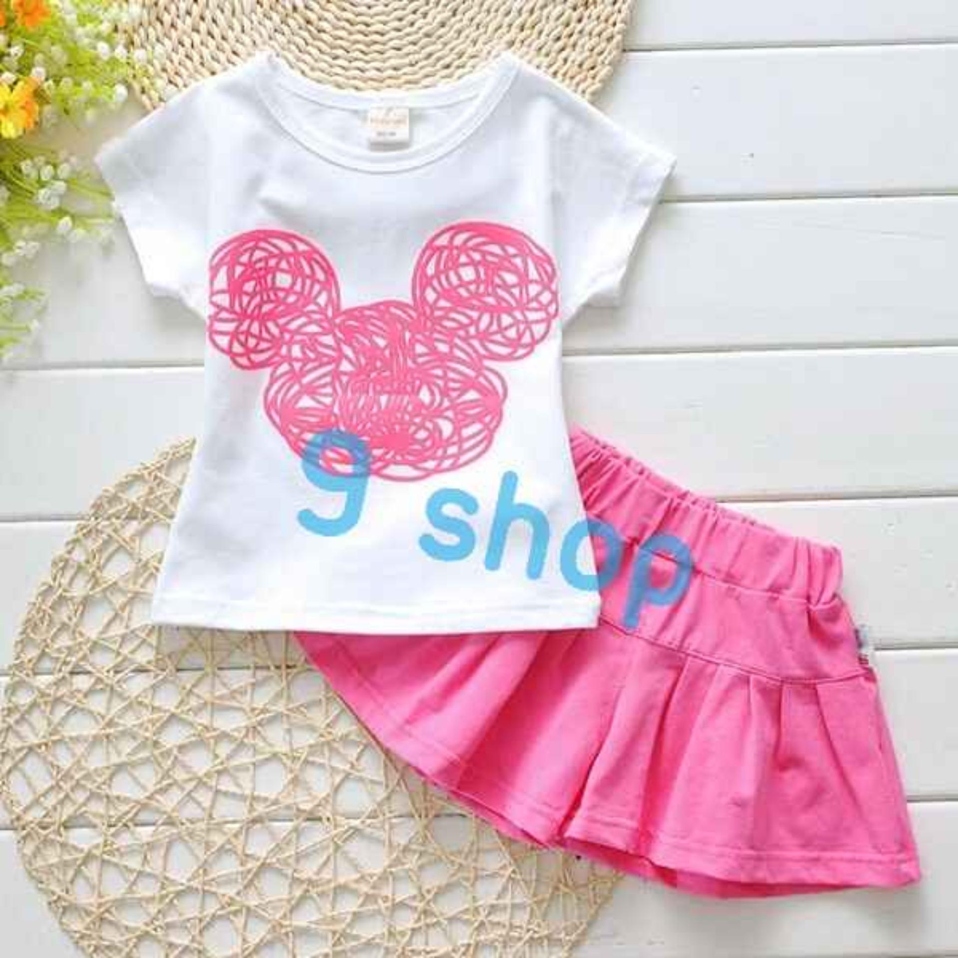 9 Shop Setelan Baju dan Rok Anak Perempun MICKY / Stelan Baju Anak Perempuan / Stelan Anak Cewek / Baju Anak Perempuan / Rok Anak Perempuan / Setelan Anak Cewek / Setelan Anak Murah / Baju Anak Murah / Stelan Kartun Anak