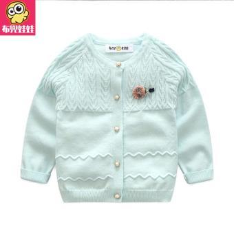 Budouwawa Girls Autumn Clothing Sweater 2018 New Style Childrenswear women Korean Style Base Cardigan girl women Autumn Sweater