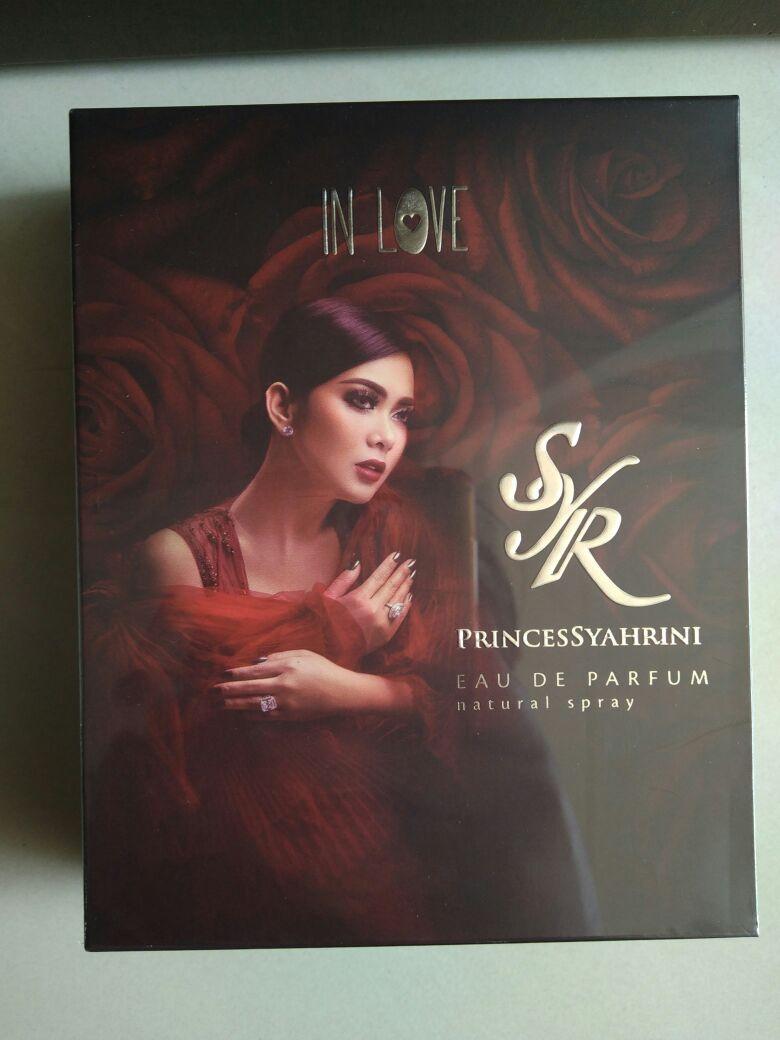 Princes Syahrini In Love Parfum Original 100% - Eau de Parfume - Dengan Liontin Kalung Swarovski SYR (Syahrini) Asli