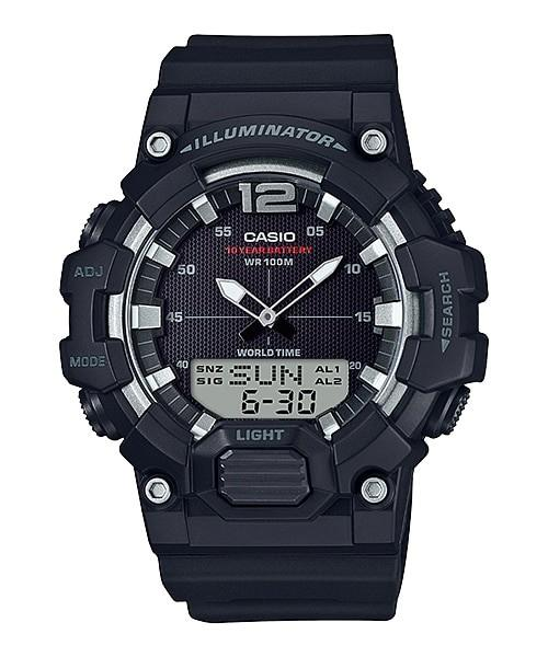 Casio Youth Combination HDC-700-1AVDF - Jam Tangan pria - Black - Strap Resin