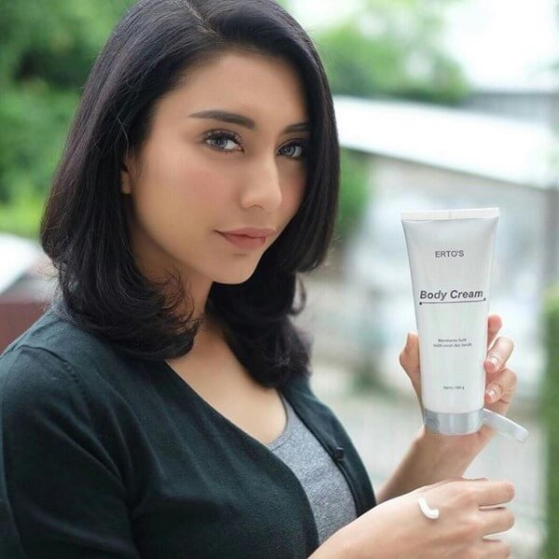 Murah Ertos Body Cream Whitening Lotion Krim Pemutih Badan Bibit Bpom Original Skincare