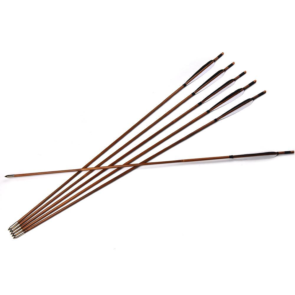 Paket Hemat Arrow Bambu Petung 8mm Hawk Eye Cocok Untuk Latihan Panahan Isi 9 Bonus Fingertab