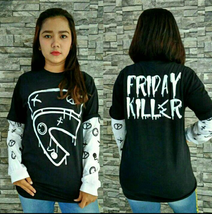 Kaos fvt longsleeve friday killer