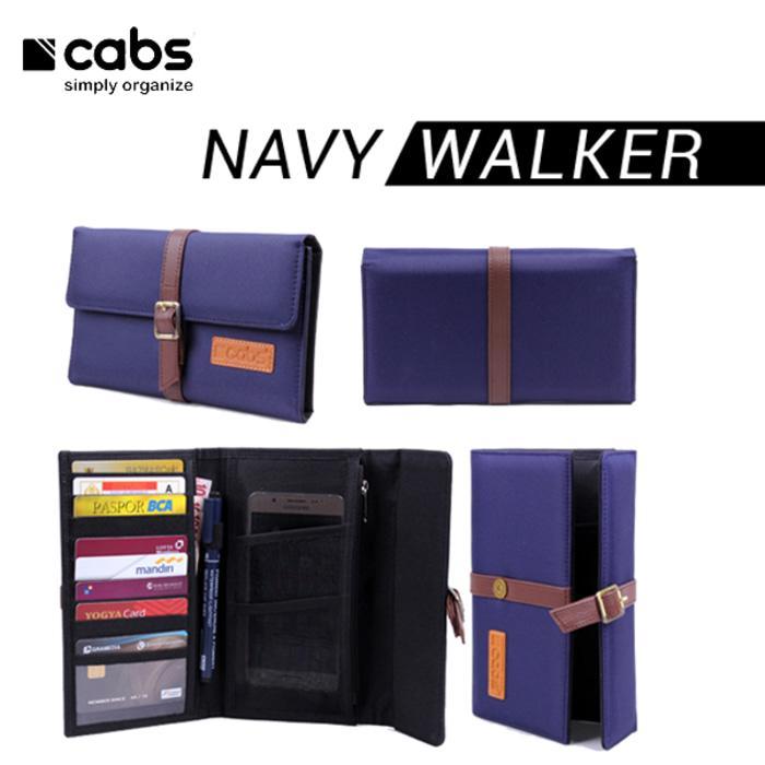 Cabs Pocket Walker - Dompet Wanita & Pria HPO Organizer Dompet Kartu Branded Serbaguna Dompet Lokal Cewek Cowok Wallet Card Holder Multifungsi - Navy Blue