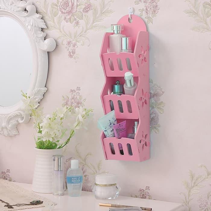 Promo Murah / MH50300 Storage Decorative Rack Shabby chic / Bisa Untuk Rak kosmetik hp remote dll / Putih