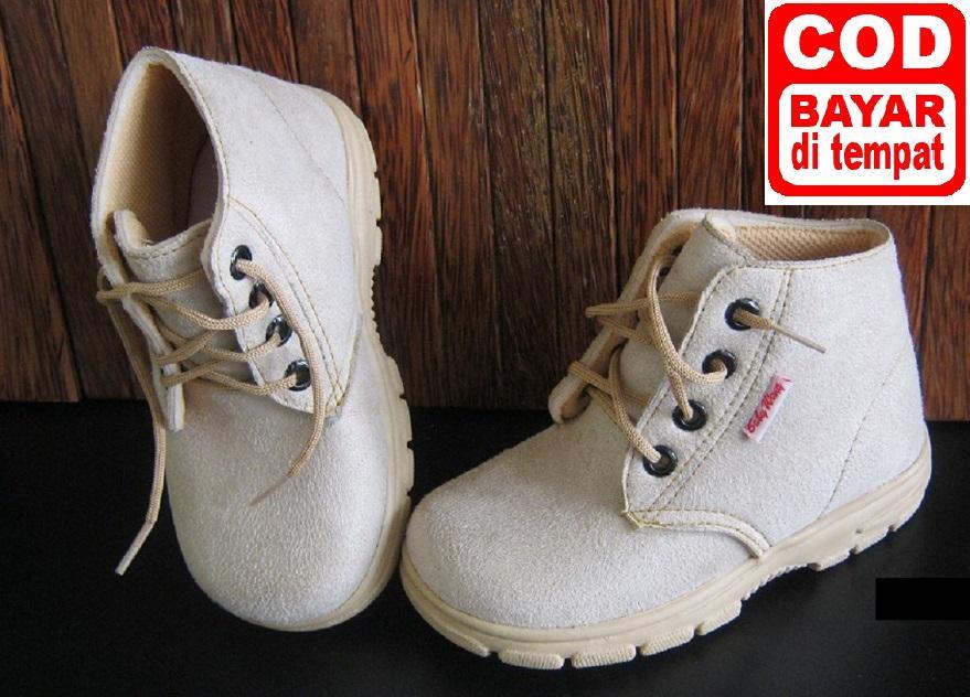 Sepatu Anak Baby Wang - Boots Sherif Cream Besar - Sepatu Murah - Uk 3-5 tahun (size 27-28-29-30)