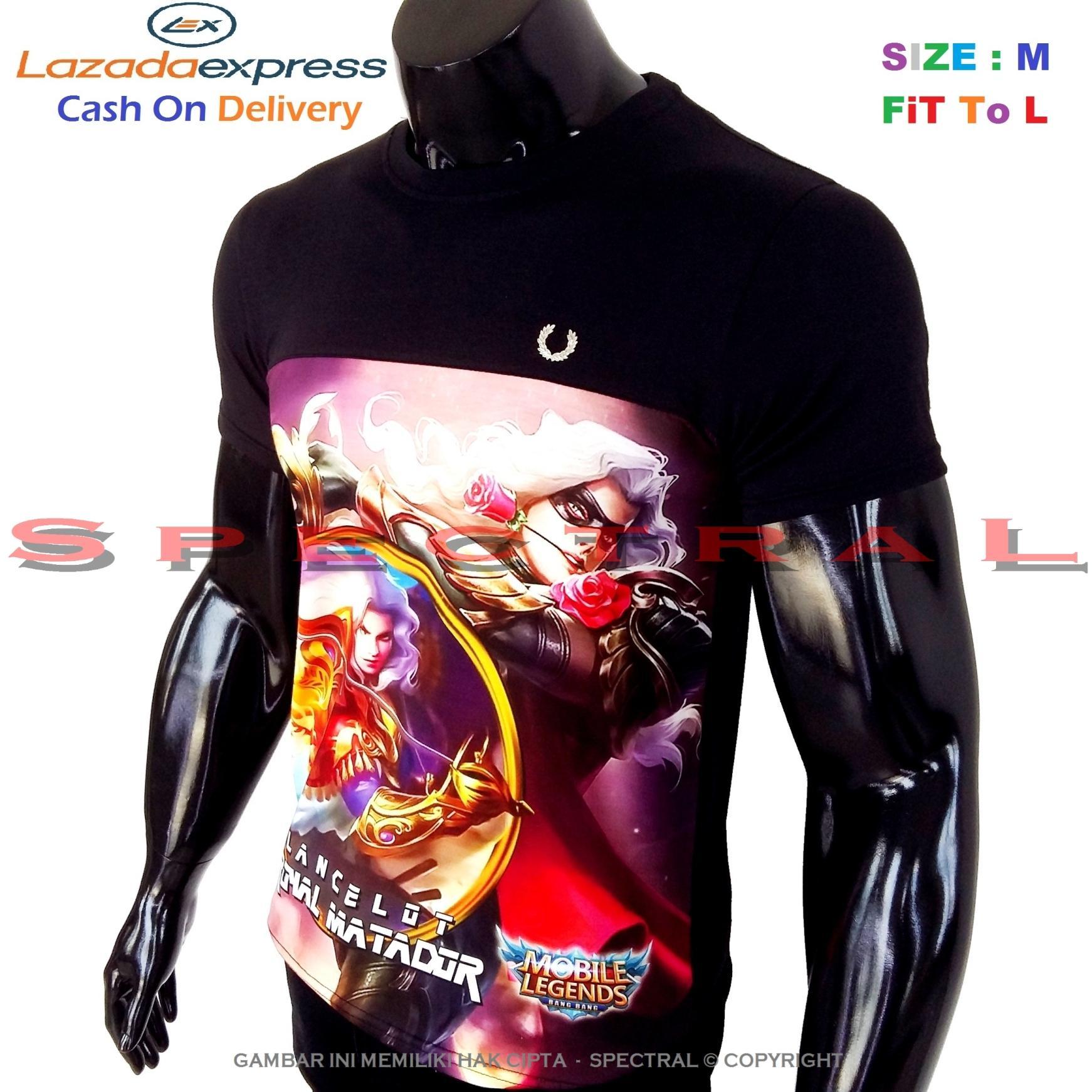 Spectral – 3D LANCELOT Mobile Legend Kualitas HD Printing Size M Fit To L Soft Rayon Kaos Distro Fashion T-Shirt Atasan Baju Pakaian Polos Pria Wanita Cewe Cowo Lengan Murah Bagus Keren Jaman Kekinian Jakarta Bandung Gambar Game Mobilelegend Legends