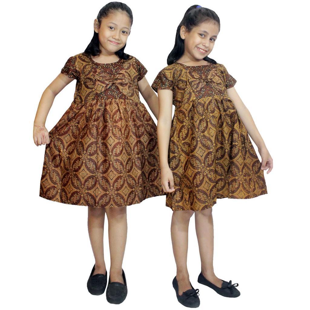 Dress Sogan Batik Anak- Baju Tidur Anak- Ukuran XL (DKA003-03)