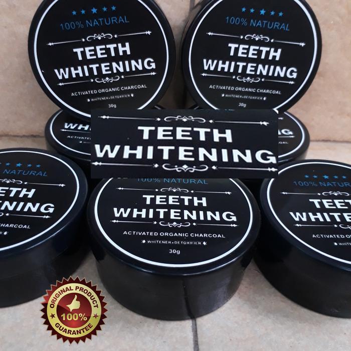 [BEST SELLER] Teeth Whitening Charcoal Memutihkan Gigi Dengan Instan - TERLARIS Charcoal Powder Activated